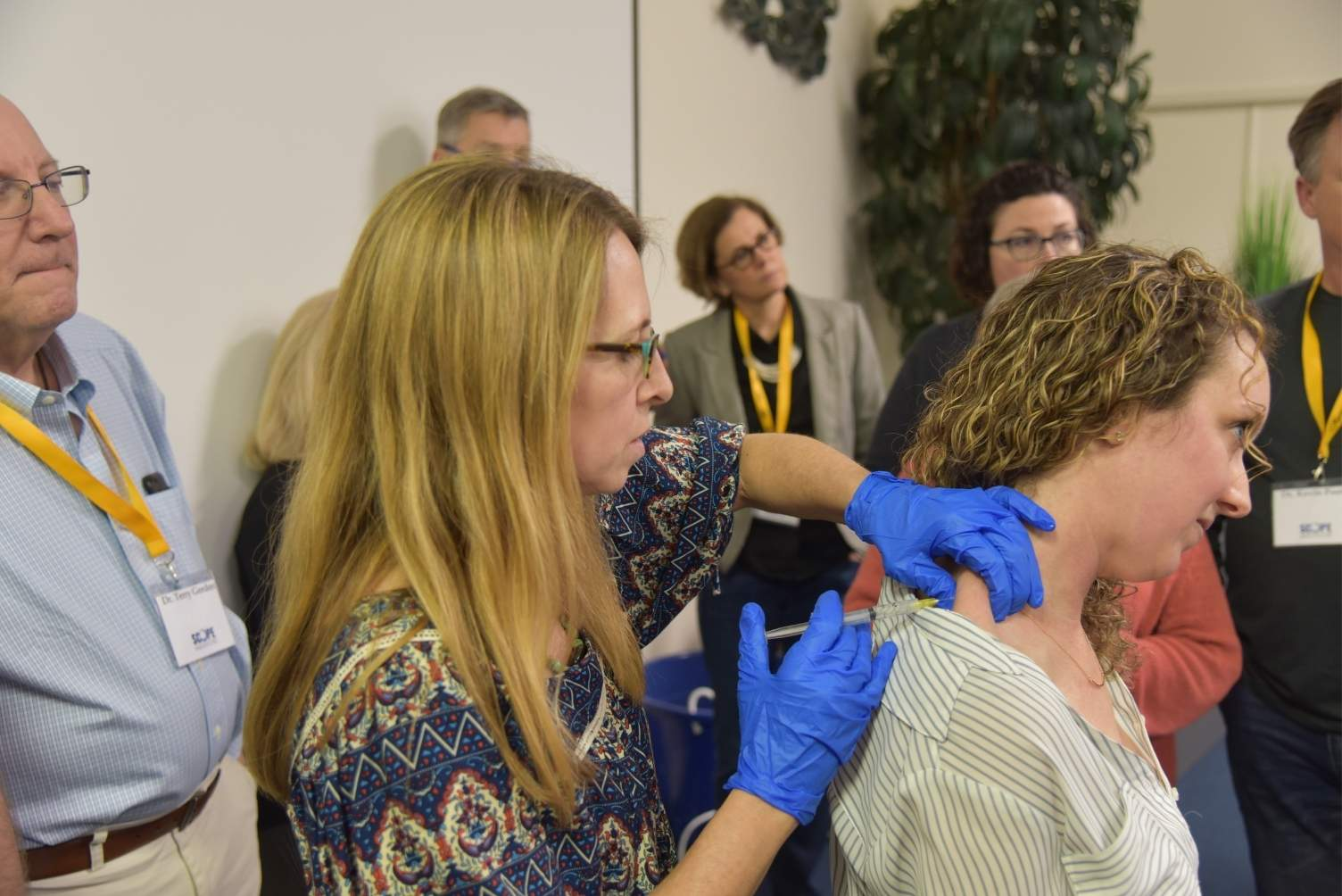 Hands-on training in administering trigger point injections for TMD treatment