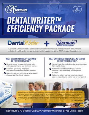 DentalWriter Efficiency Package Flyer