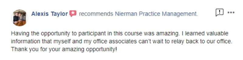 Nierman CE Clinial Course Review