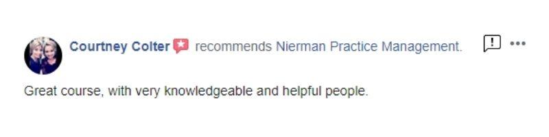 Nierman CE Course Review