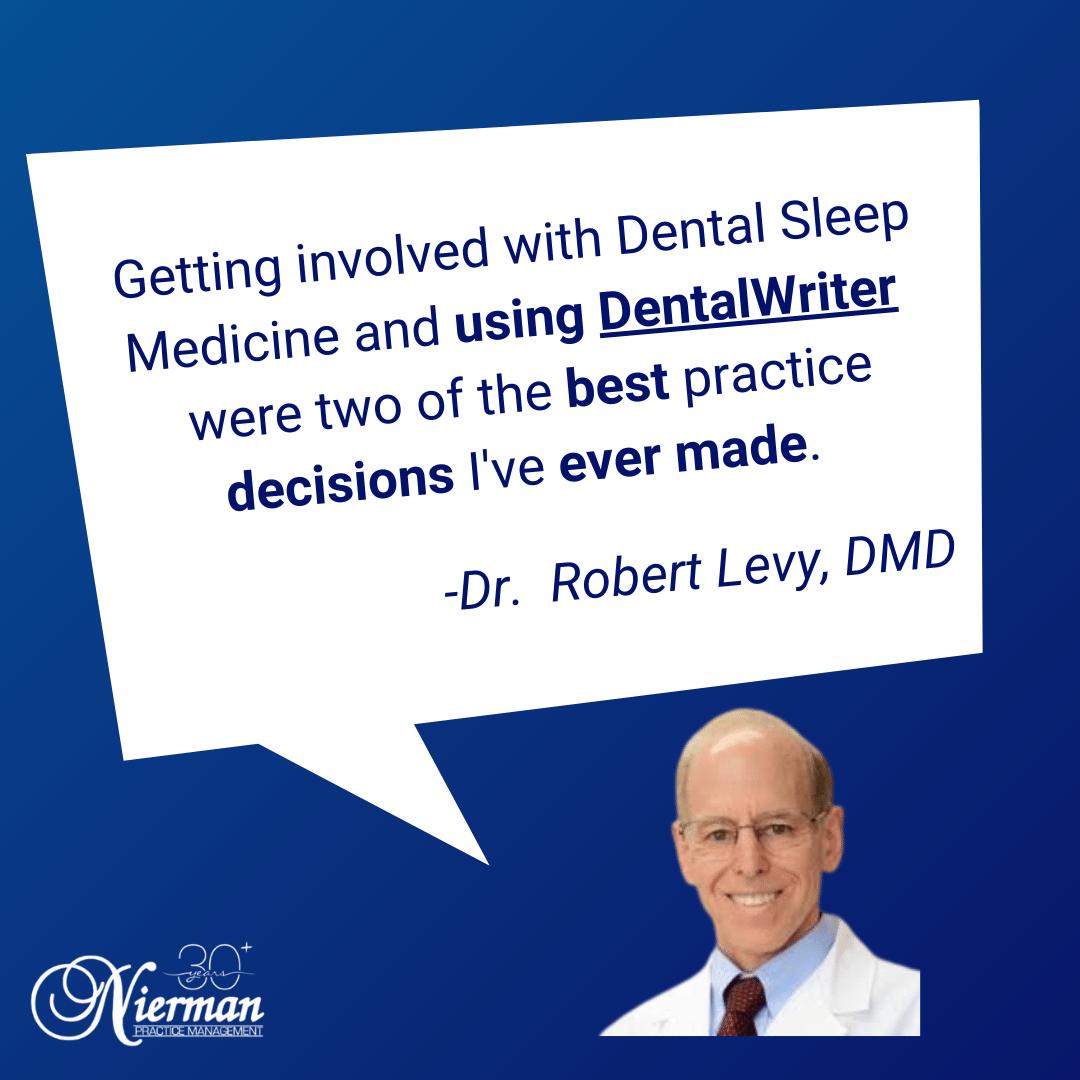 Dr Levy Review for DentalWriter Software Dental Sleep Medicine Practice Software for Medical Billing, TMJ, Implants