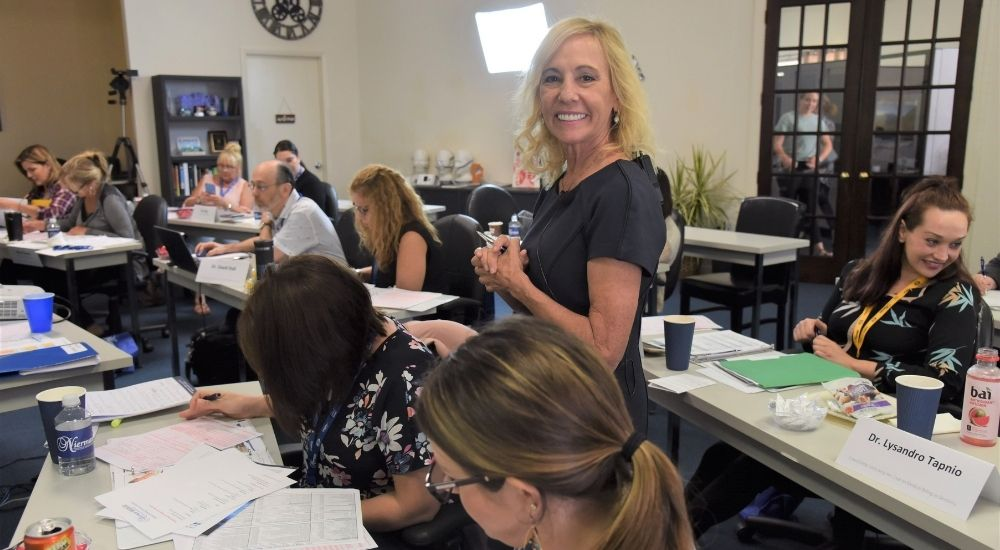Rose Nierman at a Nierman Cross-Coding Course for Dental Sleep medicine, TMD, and oral surguries