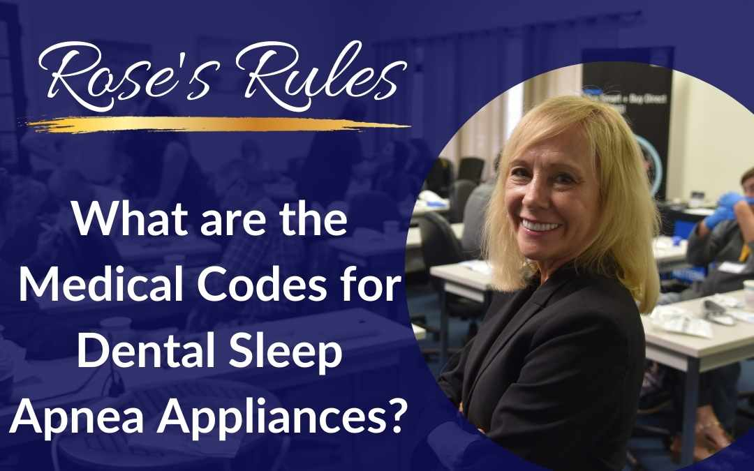 What are the Medical Codes for Oral Sleep Apnea Appliances?