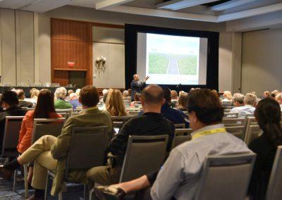 Mayoor Patel speaking during the AADSM Annual Meeting