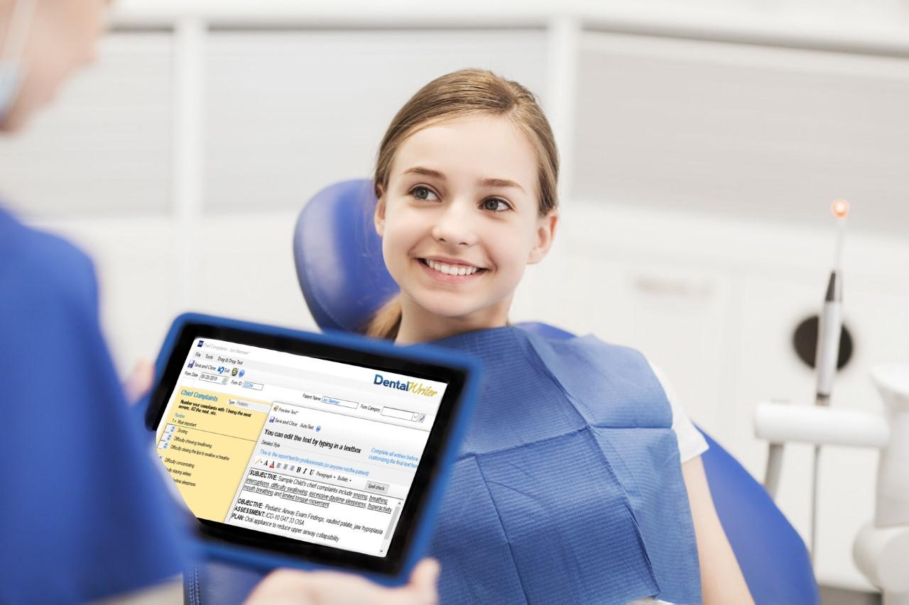 DentalWriter Software child patient