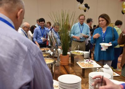 Attendees getting food at a Nierman Medical Billing and Dental Sleep Medicine Course